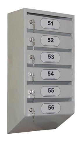Почтовый ящик многосекционный без задней крышки.