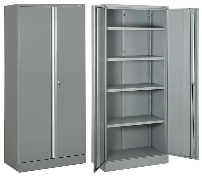 Железные шкафы для хранения документов.